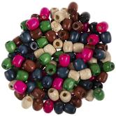 Fashion Multi Barrel Wood Beads - 11mm
