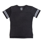 Black & White Baseball V-Neck Adult T-Shirt - Extra Small
