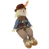Plaid Apron Scarecrow Shelf Sitter