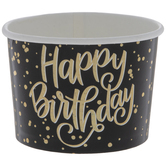 Holographic Gold Happy Birthday Snack Cups