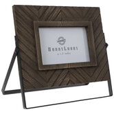 Brown Chevron Wood Frame