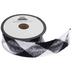 Black & White Buffalo Check Brushed Trim - 1 1/2