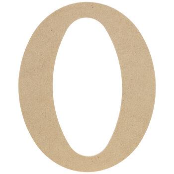 """Wood Letter O - 9 1/2"""""""