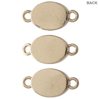 Oval Druzy Connectors