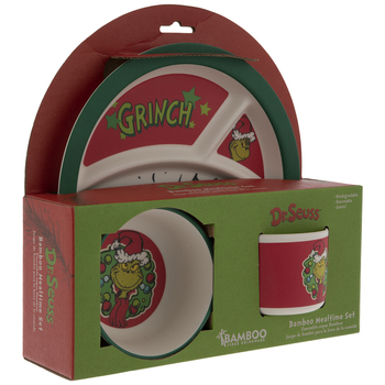 Dr. Seuss The Grinch Kids' Plate, Bowl & Cup