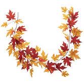 Red & Orange Maple Leaf Garland