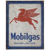 Mobilgas Metal Sign