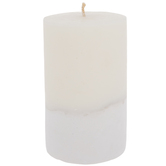 White & Ivory Two-Tone Pillar Candle
