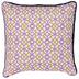 White, Pink & Yellow Geometric Pillow