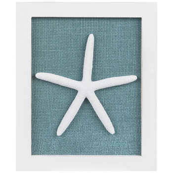Turquoise & White Starfish Wood Wall Decor