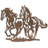 Horses Metal Wall Decor
