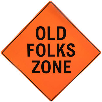 Old Folks Zone Road Sign Napkins - Small