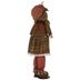 Standing Plush Scarecrow Holding Pumpkin