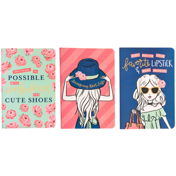 Floral Girl Notebooks