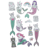 Mermaid & Unicorn Cat 3D Stickers