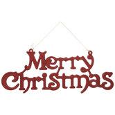 Glitter Merry Christmas Wall Decor