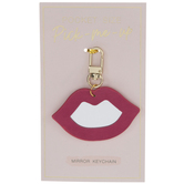 Pink Lips Mirror Keychain