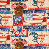 Land of the Free Cotton Calico Fabric