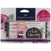 White Faber-Castell PITT Artist Pens - 4 Piece Set