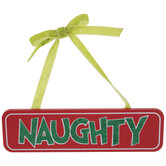 Naughty Glitter Word Ornament