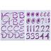 Iridescent Lavender Foil Script Alphabet Stickers