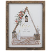 Love One Another Framed Wood Wall Decor