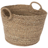 Water Hyacinth Round Woven Basket