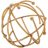 Brushed Gold Metal Wire Decorative Sphere