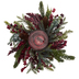 Pine & Frosted Berry Candle Holder Centerpiece