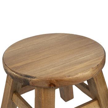 Natural Round Wood Stool