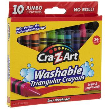 Cra-Z-Art Washable Triangle Crayons - 10 Piece Set