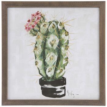 Pincushion Cactus Wood Wall Decor