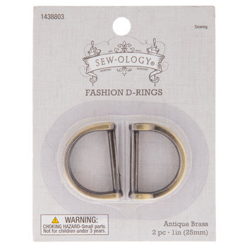 """Antique Brass Fashion D-Rings - 1"""""""