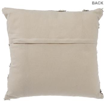 Beige Diamond Patterned Pillow