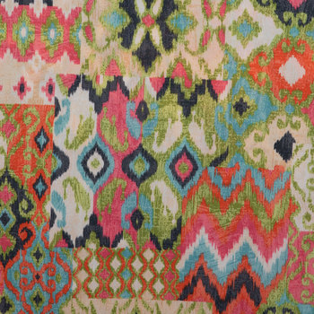 Bright Ikat Duck Cloth Fabric