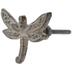 Silver & Cream Dragonfly Metal Knob