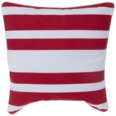 Red & White Striped Outdoor Pillow