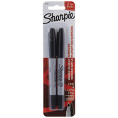 Black Twin Tip Sharpie Markers - 2 Piece Set