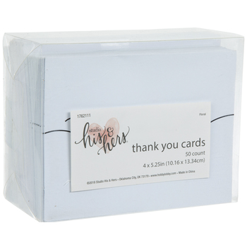White & Black Thank You Cards