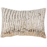 Beige & Gold Abstract Pillow