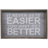 Never Gets Easier Wood Wall Decor