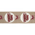 Merry Christmas Ornament Wired Edge Ribbon - 2 1/2