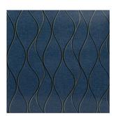 Blue & Gold Wave Wallpaper Vinyl Wall Art