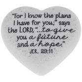 Jeremiah 29:11 Heart Stone