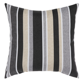 Gray & Natural Striped Pillow