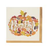 Thankful Pumpkin Napkins - Small