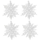 White Glitter Snowflake Ornaments