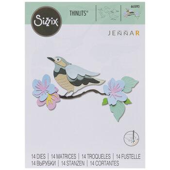 Sizzix Thinlits Bird On Floral Branch Dies