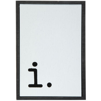 Lowercase Letter Wood Wall Decor - I