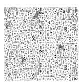 "Black & White Music Notes Scrapbook Paper - 12"" x 12"""